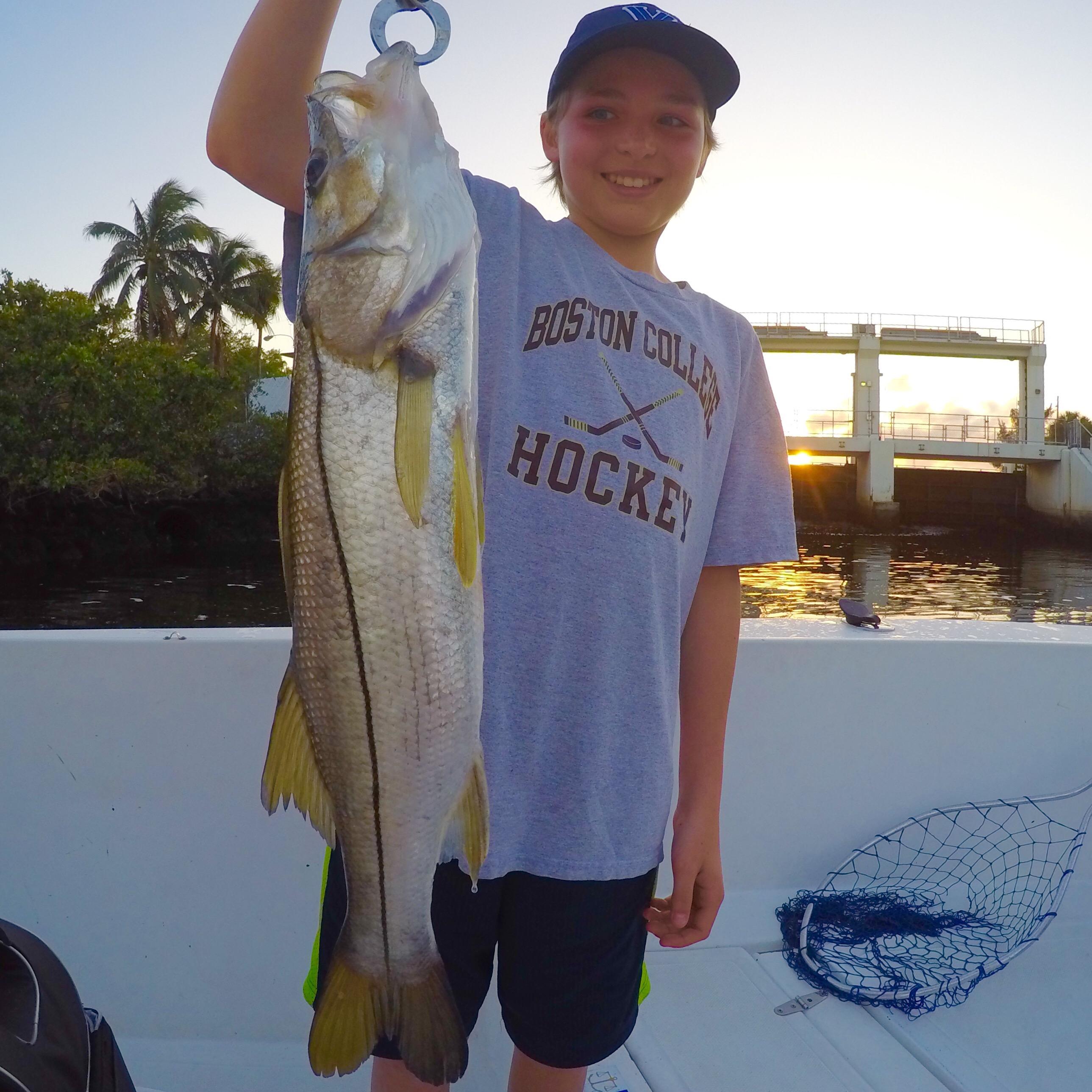 03 27 16 fishing report snook sunshine bass blackfin for Boca raton fishing
