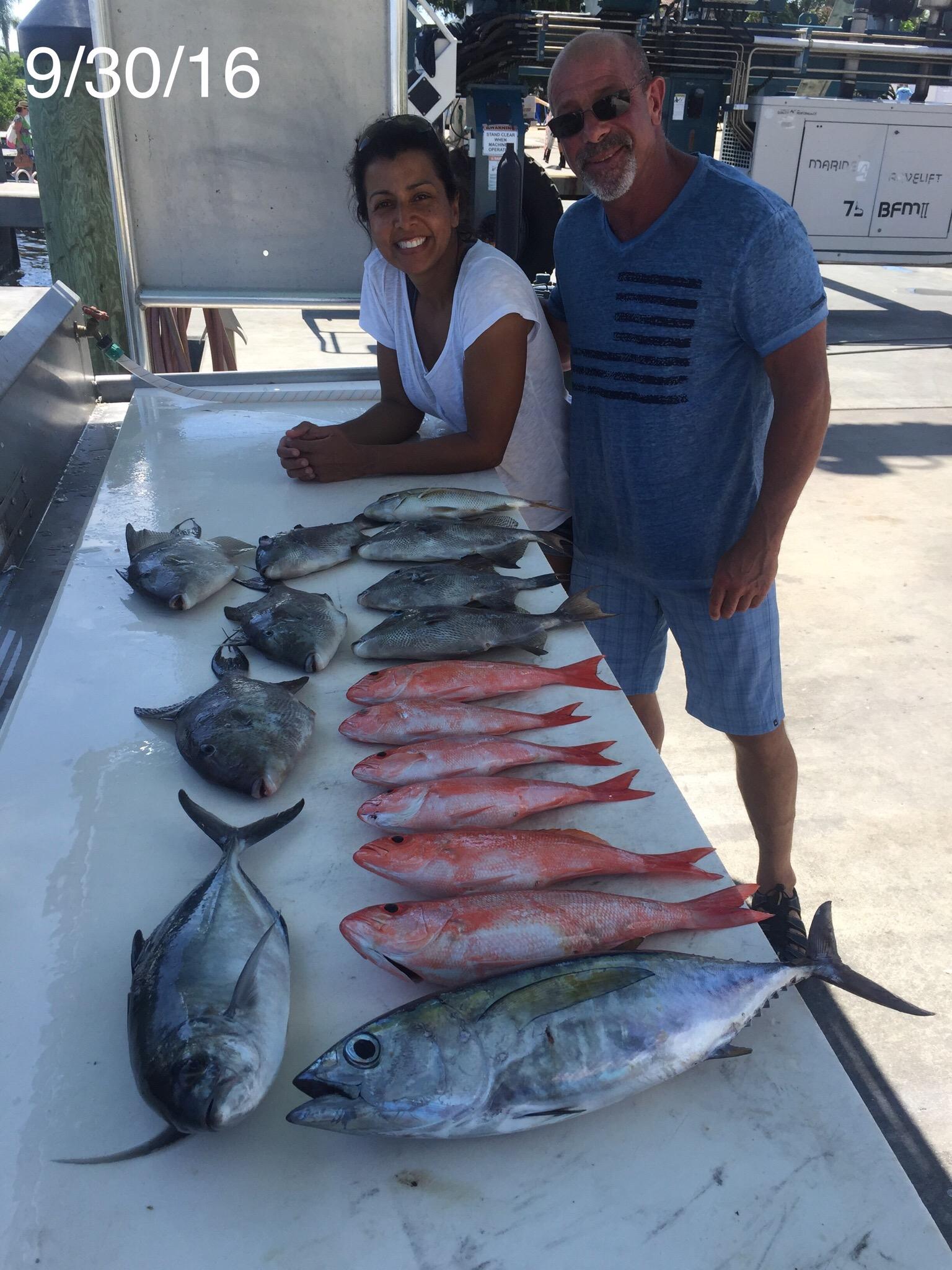 10 3 16 tuna mahi mahi wahoo snapper triggerfish for Delray beach fishing charters